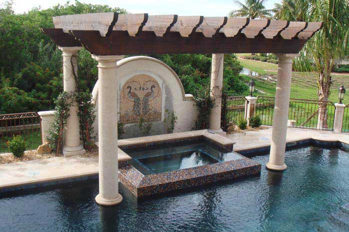 Amenajari exterioare din piatra naturala din portofoliul for Amenajari piscine exterioare